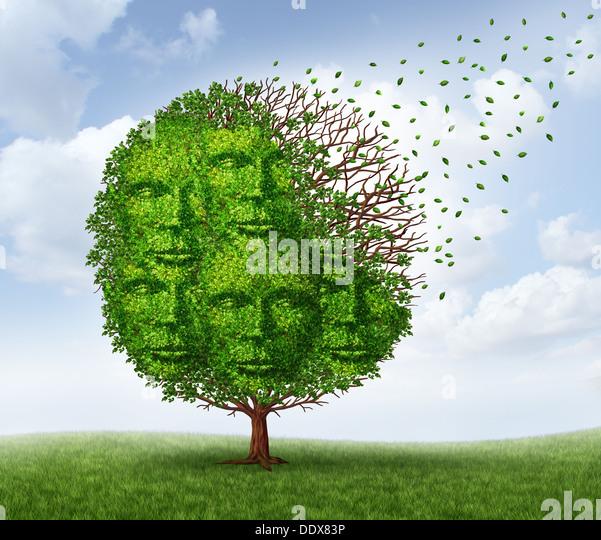 Gemeinschaft Verlust und Verlust von sozialen Verbindungen als Wirtschafts- und Lifestyle-Konzept mit einem grünen Stockbild