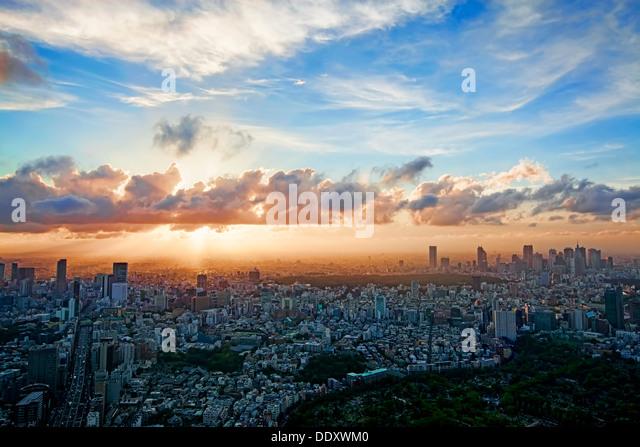 Skyline von Tokyo Stockbild