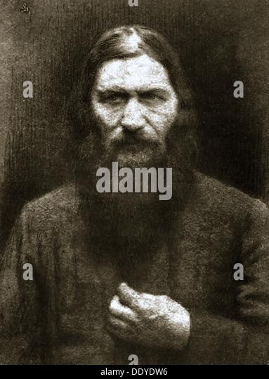 Rasputin, russischer mystisch, Anfang 20. Jahrhundert. Künstler: unbekannt Stockbild