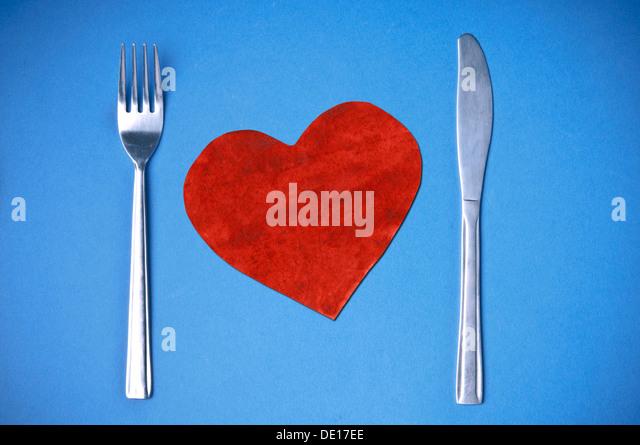Liebe für gesunde Ernährung Konzept Stockbild