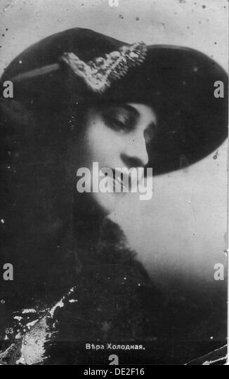 Vera Kholodnaya, Russischer Stummfilm-Schauspielerin, 1910er Jahre. Stockbild