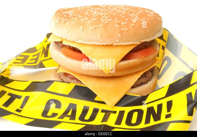 Ungesunden Fastfood Stockbild