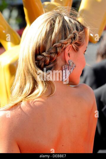 Los Angeles, CA. 15. September 2013. Heidi Klum im Ankunftsbereich für Primetime Emmy Awards: Creative Arts Stockbild