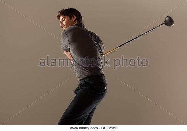Golf Spieler Knüppeln Stockbild