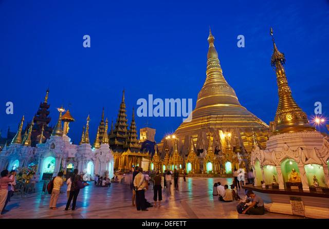 Shwedagon Paya, Yangon (Rangoon), Myanmar (Burma), Asien Stockbild