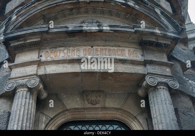 Istanbul, Sirkeci, sterben Deutsche Orientbank (DOB), Eine 1906 Gegründete Deutsche Auslandsbank Stockbild
