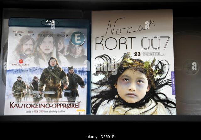 DVD, norwegische Filme, Tromso Grafschaft Troms, Norwegen, Nordeuropa Stockbild