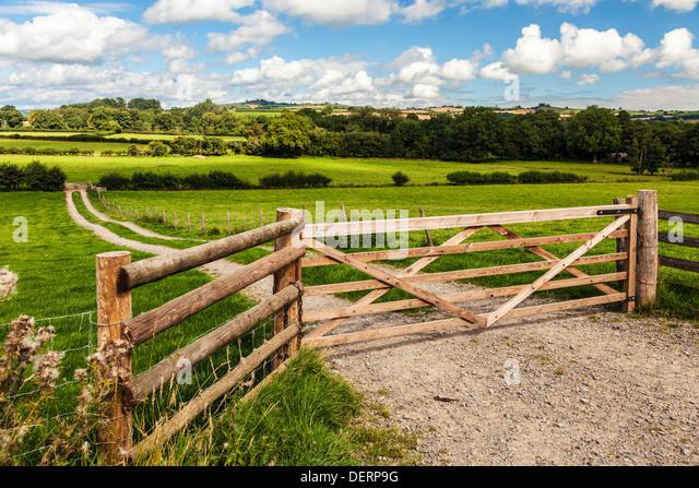 Die walisische Landschaft in Brecon-Beacons-Nationalpark in der Nähe von Pencelli. Stockbild