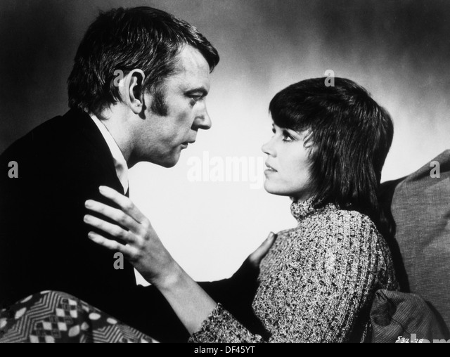 "Jane Fonda und Donald Sutherland, am Set des Films ""Klute"", 1971 Stockbild"
