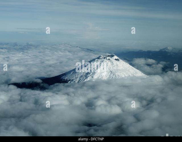 Der Krater des Vulkan Cotopaxi, Ecuador Stockbild
