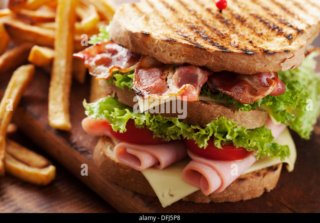 Club-sandwich Stockbild