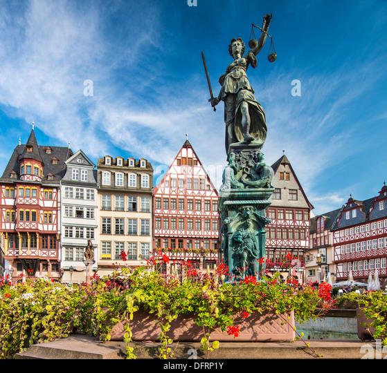 Die alte Stadt Frankfurt, Deutschland. Stockbild