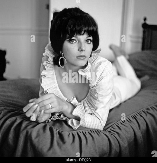 JOAN COLLINS UK Filmschauspielerin über 1965 Stockbild