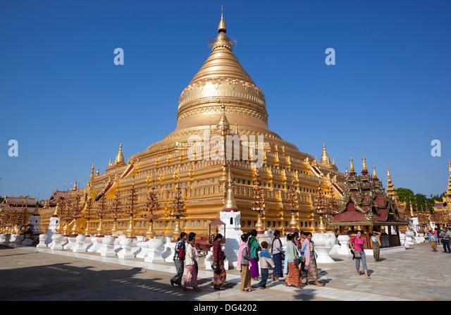 Zentralen Shwezigon Pagode in Bagan, Myanmar, Myanmar (Burma), Asien Stockbild