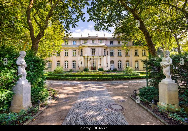 Haus der Wannsee in Berlin, Deutschland. Stockbild