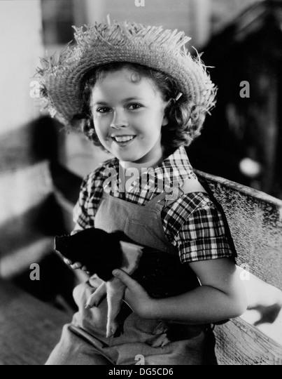 Shirley Temple, am Set des Films, Rebecca of Sunnybrook Farm, 1938 Stockbild