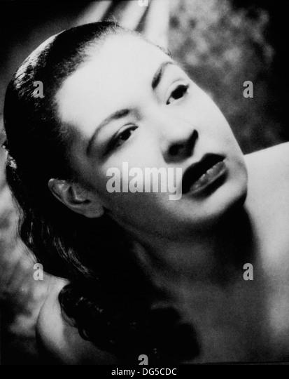 Billie Holiday, Blues und Jazz-Sängerin, Portrait, 1955 Stockbild