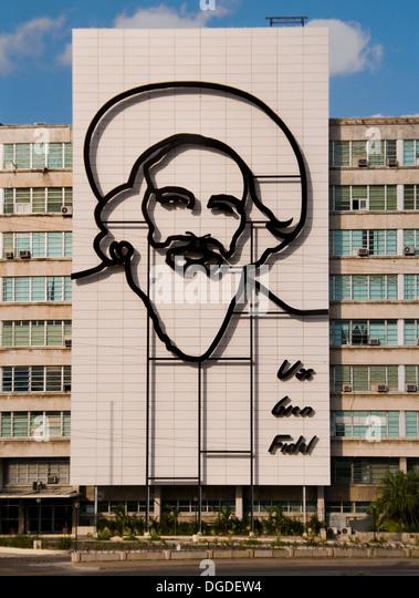 Fidel Castro-Denkmal in Plaza De La Revolucion (Platz der Revolution). La Havanna, Kuba. Stockbild