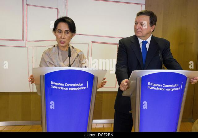 Nobel Peace Prize Aung San Suu Kyi Burma myanmar Stockbild