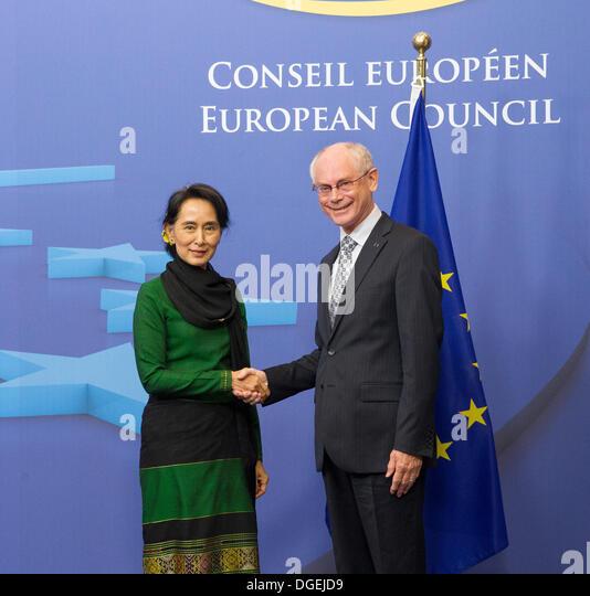 Burmesische Peace Prize Friedensnobelpreisträgerin Aung San Suu Kyi Stockbild