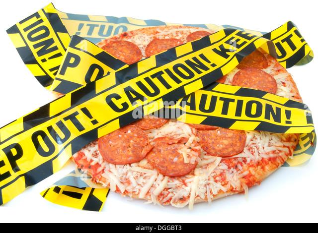 Ungesunde Lebensmittel Vorsicht Stockbild