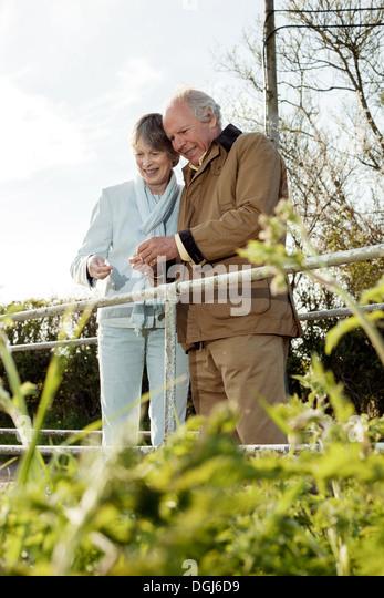 Mann und Frau Zeit miteinander zu verbringen Stockbild