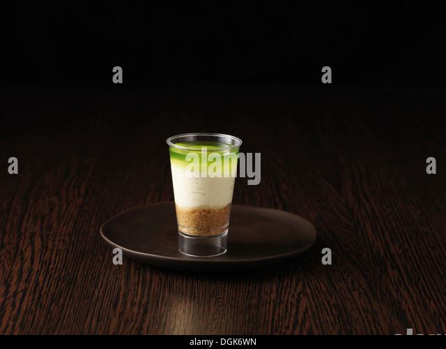 Stillleben von Key Lime pie Stockbild