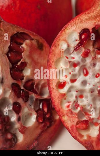 Offenen Granatapfel Stockbild