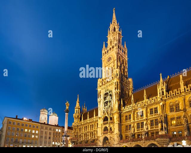 Neues Rathaus München Stockbild