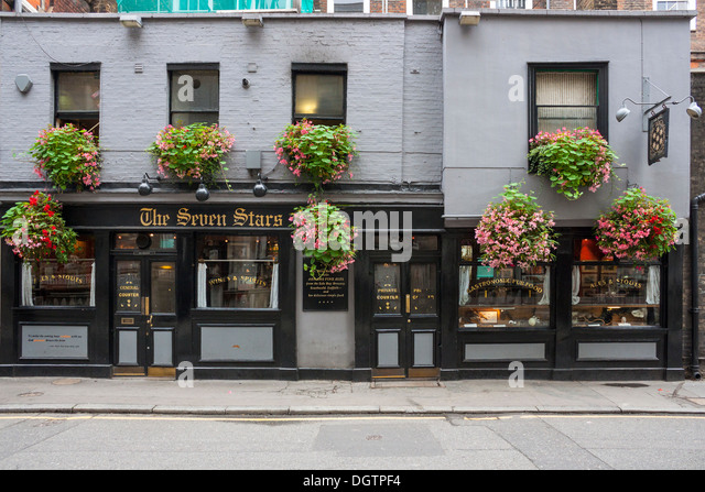 Die sieben Sterne, Carey Street, London Stockbild