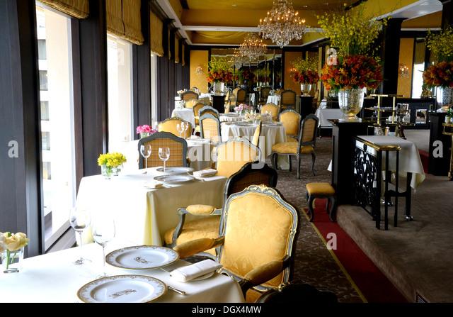 Klassische französische Gourmetrestaurant Stockbild