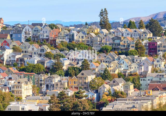Viertel von typischen San Francisco, California Stockbild