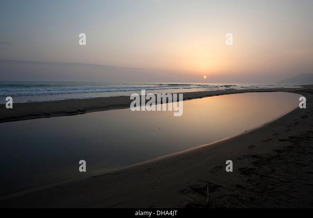 Patara der längste Strand im Mittelmeer mit 26 km Länge Türkei Stockbild