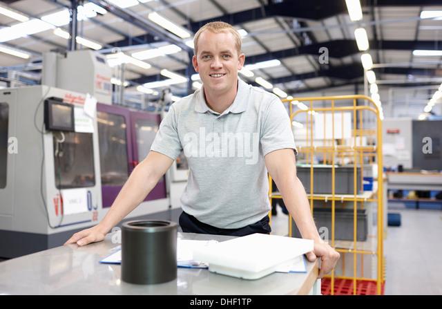 Porträt eines Ingenieurs in engineering Fabrik Stockbild