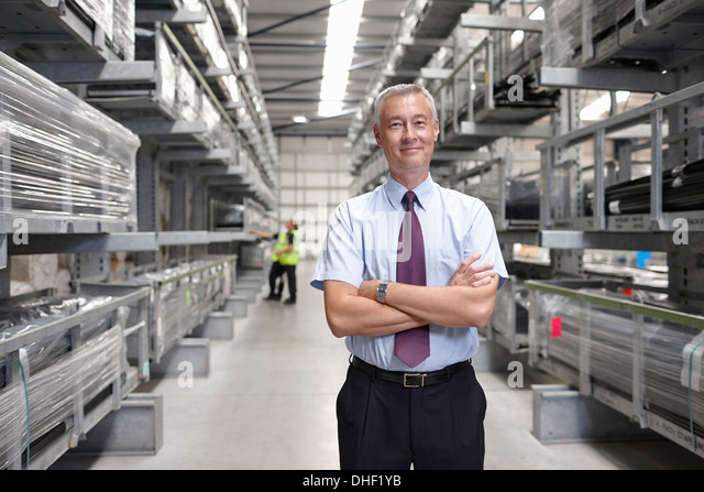 Porträt des Managers in engineering Lager Stockbild