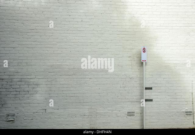Gemauerte Wand Straßenbild Einzelhandel Hintergrund Stockbild