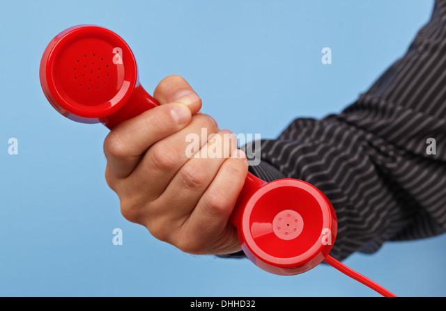 Wichtigen Anruf Stockbild