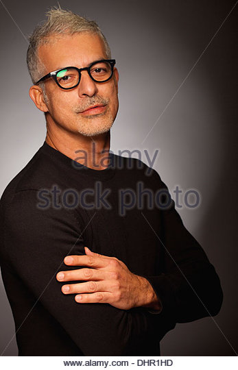 Attraktiver Mann anspruchsvolle Porträt Cool stilvolle - Stock-Bilder