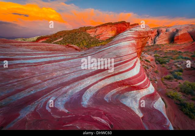 Valley of Fire State Park, Nevada Stockbild