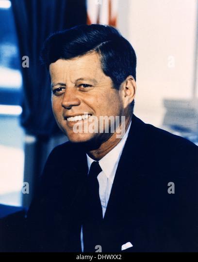 Präsident John F. Kennedy, der amerikanische Präsident JFK Stockbild