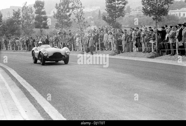 Aston Martin DB3S, one of the Kangaroo stabil Team Autos beim spanischen Grand Prix, Pedralbes, Spanien 24. Oktober Stockbild