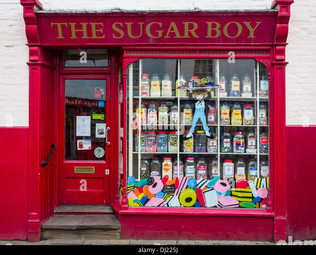 Old Fashioned traditionelle Sweet Shop Bonbons Stockbild