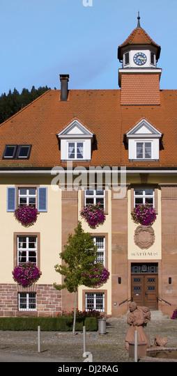 Rathaus Oberwolfach Stockbild