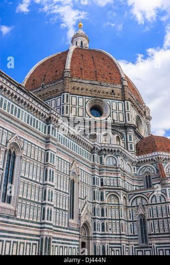 Die Basilica di Santa Maria del Fiore (Basilika der Heiligen Maria von der Blume) ist die Hauptkirche von Florenz, Stockbild