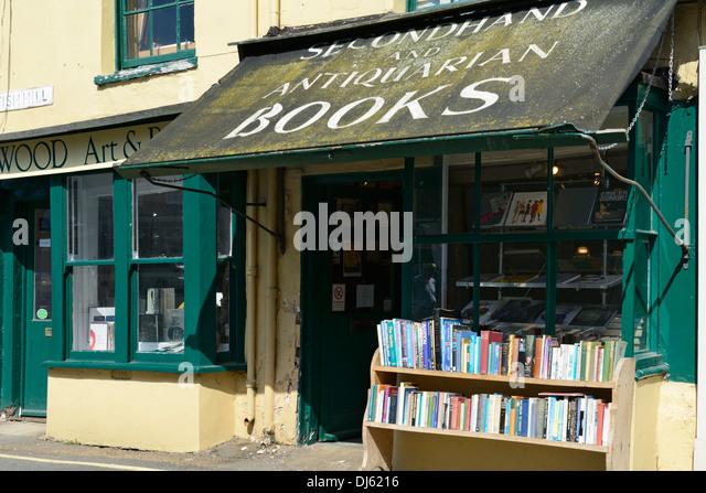 Verfallene Baldachin gebrauchte und Antiquarische Buchhandlung, Holt, Norfolk, England, Vereinigtes Königreich, Stockbild