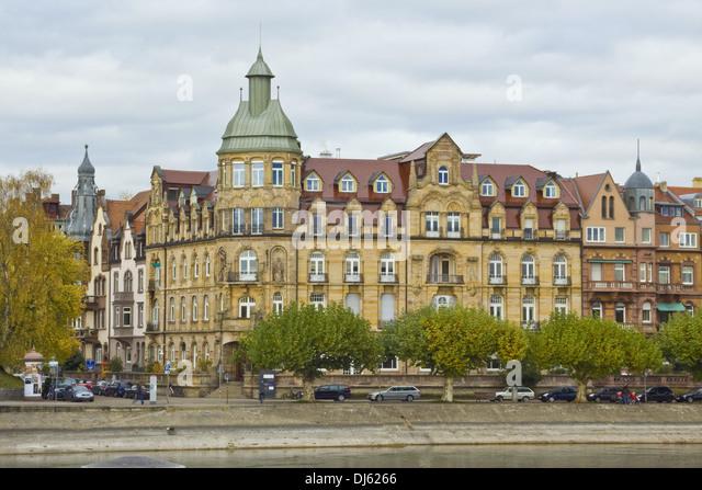 Konstanz, Straße am See Stockbild