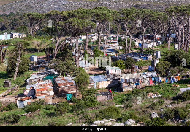 Südafrika. African Township in der Nähe von Simons Town. Stockbild