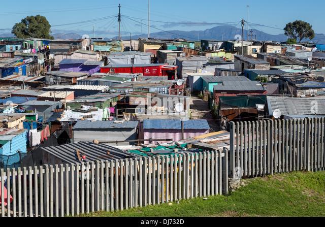 Südafrika, Cape Town, Khayelitsha Township. Stockbild