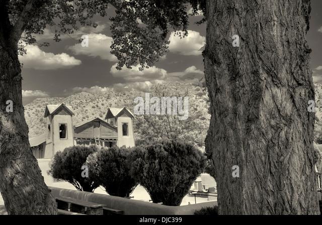 Santuario de Chimayo Kirche. Chimayo, New Mexico Stockbild