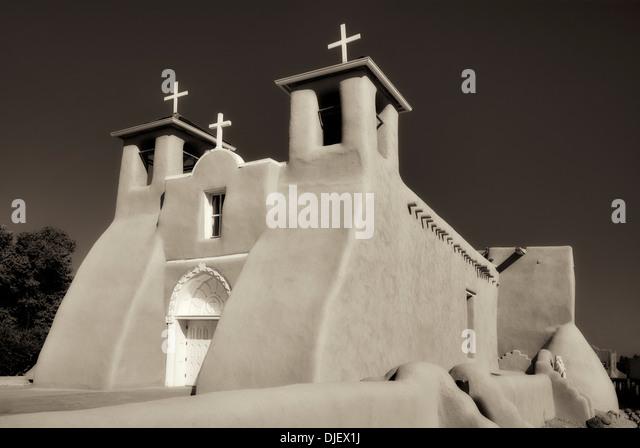 Katholische Kirche San Francisco de Asis. Taos New Mexico Stockbild